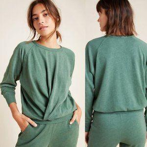 NEW! SUNDRY Twist-Front Sweatshirt in MOSS (S)